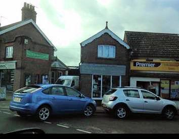 Bad parking at Edlesborough Shop