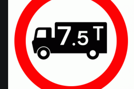 7.5T Lorry Roadsign